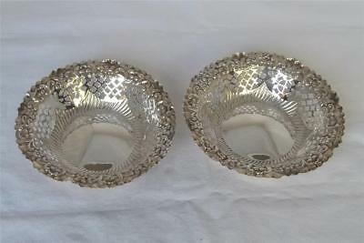 A Stunning Antique Pair Of Solid Sterling Silver Victorian Dishes  Dates 1896.