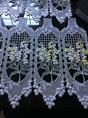 French cafe style lace curtain panels x 2. 39 inches wide each piece