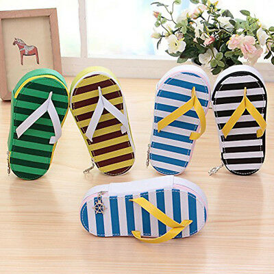 Creative Cute Flip-Flop Shape Pencil Case Pen Makeup Bag Pouch, Stationery