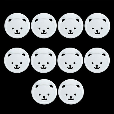 10pcs Power Kid Socket Cover Baby Child Protector Guard Mains Point Plug Bear