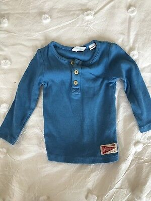 Country Road baby boys blue henley 3-6 months