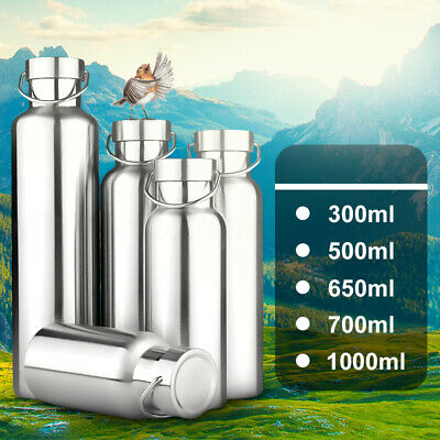 300~1000ML Double Wall Stainless Steel Water Bottle Vacuum Insulated Drink Cup