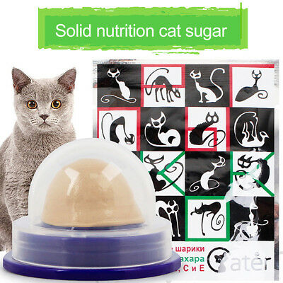 Healthy Cat Snacks Catnip Sugar Candy Licking Solid Nutrition Energy Ball Toy AZ