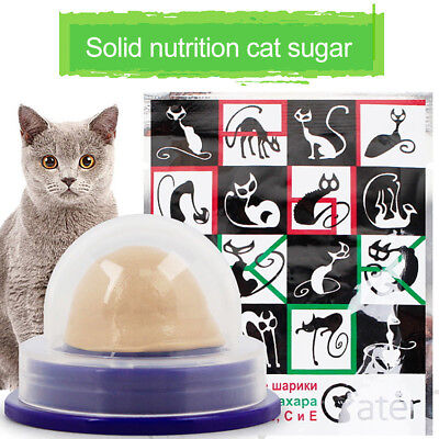 Healthy Cat Snacks Catnip Sugar Candy Licking Solid Nutrition Energy Ball Toy SW