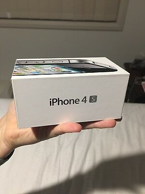 ORIGINAL GENUINE Apple iPHONE 4S Black 16gb - EMPTY BOX ONLY - NO iPHONE