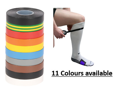 Sports Sock Tape Shin Pad Rugby Football Hockey Matching Coloured Kit 33M New