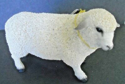 Wonderfully Detailed White Sheep Handcrafted Figurine - NEW - PERFECT Condition!