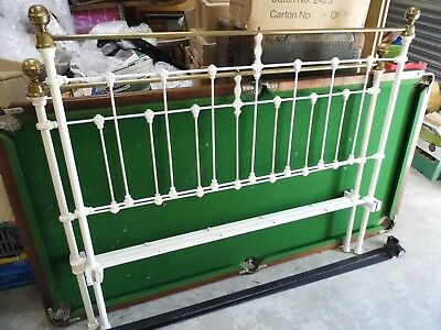 Original Antique Victorian brass and iron Double bed  Not reproduction