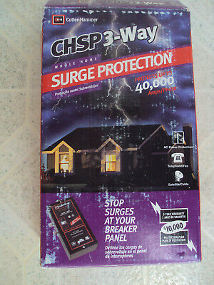 New Cutler Hammer Whole Home Surge Protector CHSP 3-Way Breaker Panel New