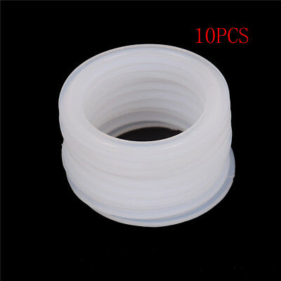 "10Pcs 2"" Sanitary Tri Clamp Silicon Gasket Fits 64mm OD Type Ferrule Flange LZ"