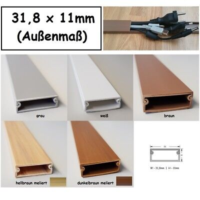 1m Cable Channel 31 ,8x11mm Div. Mod. Colours Self Adhesive (Connector
