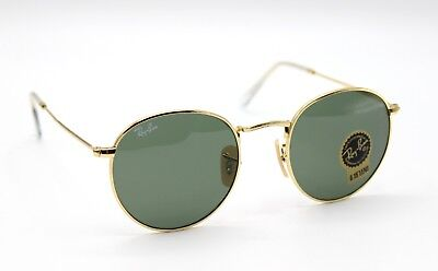 6cc8ba70c3743 NEW RAY-BAN RB3447 001 Gold Green Classic G-15 Round Sunglasses 50mm ...