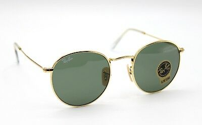 ba55ddfbec NEW RAY-BAN RB3447 001 Gold Green Classic G-15 Round Sunglasses 50mm ...