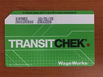 Collectible NYC MTA 2014 Expired METROCARD Green TRANSITCHECK No Value