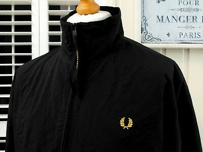 "Fred Perry Black Mesh Line Sailing Jacket - 46"" - L/XL - Ska Mod Scooter Casuals"