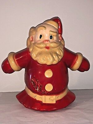 1950's Vintage NOMA Hard Plastic SANTA-GLO Wall Plaque CHRISTMAS TREE TOPPER
