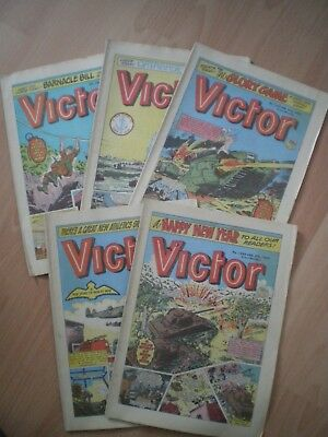 Collection Of Victor Comics - Including January 1985 - 5 Comics