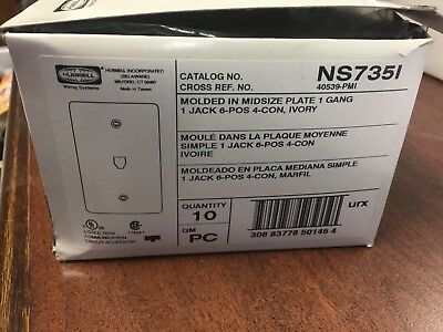 Hubbell NS735I Wall Plate *Lot of 10 pr box*