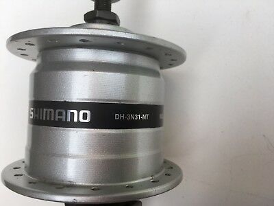 Shimano Nabendynamo  DH-3N31-NT, Vollachse, 36 Loch, silber,