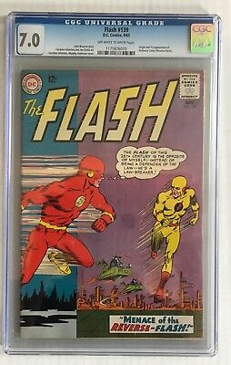 The Flash #139, 1st Appearance Reverse Flash 7.0 CGC!!!