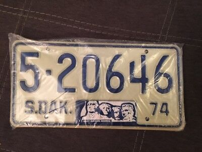 1974 South Dakota  License Plate Pair sealed from courthouse