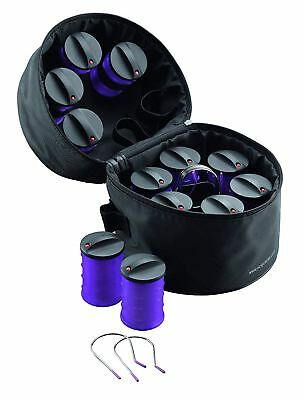 Nicky Clarke 12 Heated Jumbo Travel Frizz Control Rollers Curlers NHS011