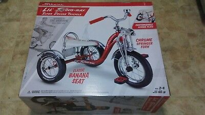 NIB RED Schwinn LIL STING-RAY SUPER DELUXE  KRATE STYLE TRIKE TRICYCLE FREE SHIP