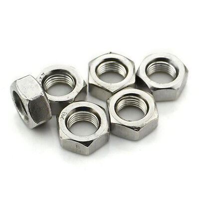 304 Stainless Steel Hex Nuts UNC/BSW  1/8 1/4 5/16 3/8 4# 10# Hexagon Full Nuts