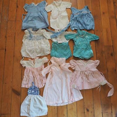 Vintage Lot of 10 Baby Dresses Jumpers etc. 1960's