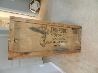 Antique 1920  Evinrude Detachable Rowboat  Outboard Motor  Shipping Crate-Rare