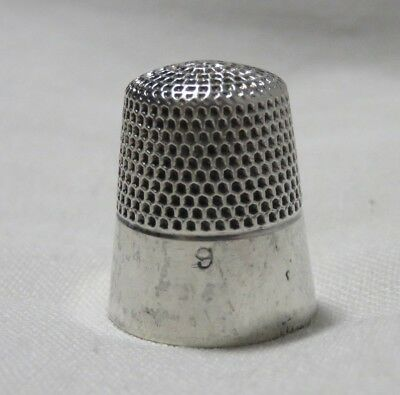 ANTIQUE KETCHAM & McDOUGALL STERLING SILVER PLAIN BAND THIMBLE SIZE 9