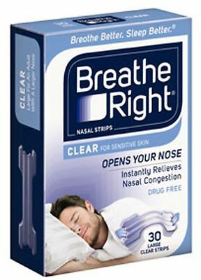 Paquet de 2 Breathe Right Nasal Bandes Transparent Grand - 60 Bandes