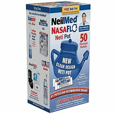 Lot de 4 - Neilmed Nasaflo Neti Pot 1 Each
