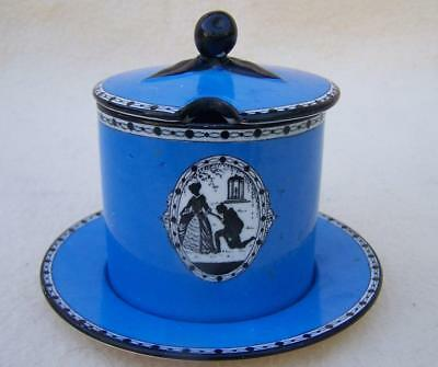 "Carlton Ware "" Cameo "" Art Deco Preserve Pot And Saucer"