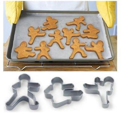 Man Kung Fu Karate Biscuit Cookie Cutter Fondant Pastry Baking Mold 6A