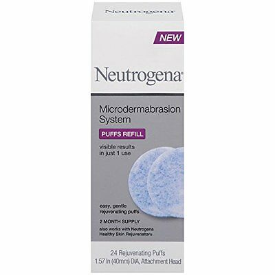 Pack 6 - Neutrogena Microdermabrasion Système Puff Recharge, 24 Nombre Chaque