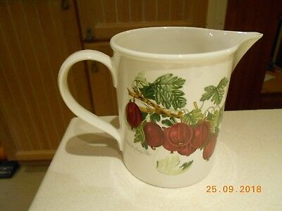 Portmeirion Pomona Jug - Discontinued Willmotts Early Red Motif On One Side