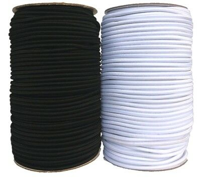 Round Elastic Cord Black / White, Hat, Beading, Crafts 1mm / 2mm / 3mm