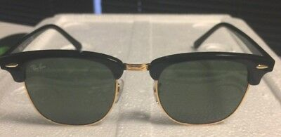 Ray-Ban Clubmaster RB3016 901/58 51mm Polarized Green Lenses /Black Frame