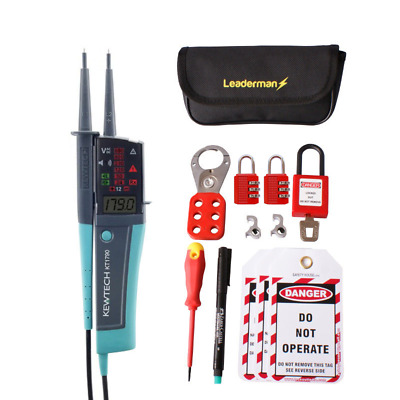 Kewtech KT1790 Voltage and Continuity Tester w/ MCB/RCD Lock Out/Off Kit LOS-K1