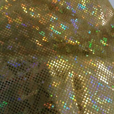 dance fabric, lycra, costume, material, stretch 4 way. Shattered Glass Gold
