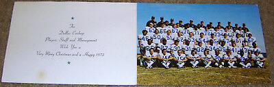 Authentic Vintage 1973 Dallas Cowboys Team Photo Christmas Card Very Rare