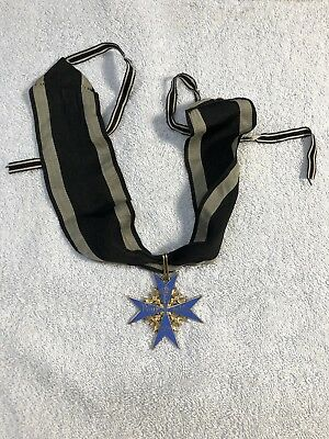 Pour le Merite - Blue Max Medal -Older Jewelers Copy with Ribbon WW 1 / WW 2