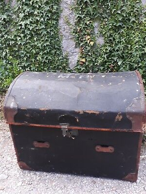 Antique dome top travelling trunk/toy box