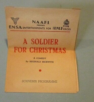 1945 WWII ENSA His Majesty's Forces A Soldier For Christmas Program Reg Beckwith