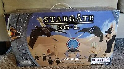 Best -Lock Construction Toys Stargate SG1 Battle Over Abydos Deluxe Set 900 Pcs.
