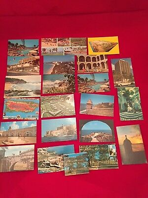 Lot 21 Vintage Puerto Rico Postcards Military Monuments Late 60's (Only 5 posted