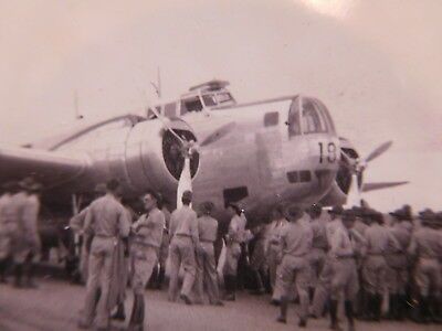 Original 1930's era photograph showing U.S. Bomber Plane & 1930's U.S. Soldiers
