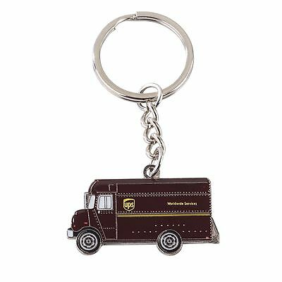 New United Parcel Service Ups Brown Delivery Truck Key Chain Key Ring