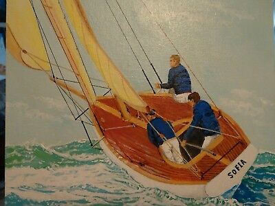 11x14 SAILBOAT PAINTING SIGNED